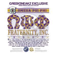 Omega Psi Phi Retro Long Sleeve TShirt Greek Sneakz