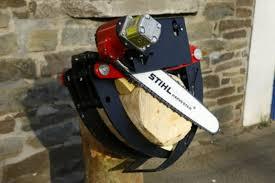 komplettset einer hydraulischen säge für greiferanbau br