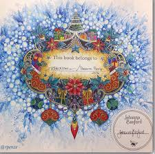 Magical Christmas Adult Coloring Books Images Colour Book Johanna Basford Joanna Colouring Techniques