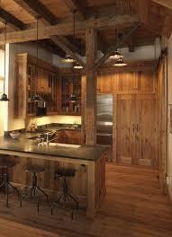 Best 25 Rustic Cabin Kitchens Ideas Log Kitchen Design