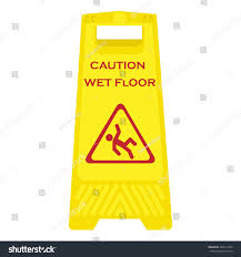Caution Wet Floor Banana Sign by Vector Illustration Yellow Sign Caution Wet Stock Vector 442613509
