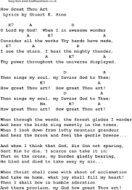 my god is an awesome god lyrics and chords