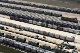 100 Railroad Trucks With Pipelines Full Oil And Gas Companies Turning To Trucks Rail