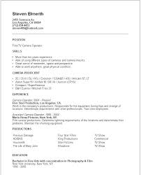 Resume Sample For Manufacturing Operator Packed With Production Camera Example Food