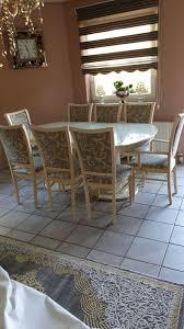 italienische esszimmer möbel mit glasvitrine