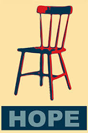 the political war zone national empty chair day bill clinton