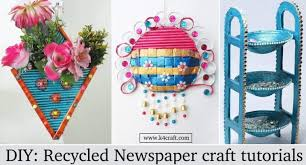 DIY Recycled Newspaper Craft Video Tutorials