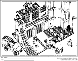 Beautiful Lego City Coloring Pages 18 In For Kids With