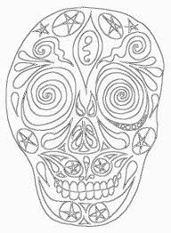 If You Have A Look At Mexican Or Aztec Decorated Death Heads Masks Will Find Some Fantastically Colorful And Often Surreal Ideas Catrina