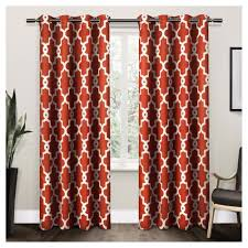 Moroccan Tile Curtain Panels by Ironwork Sateen Woven Room Darkening Window Curtain Panel Pair