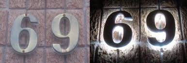 how to illuminate existing house numbers with led s