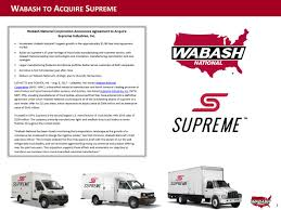 Wabash National Corporation (WNC) Acquires Supreme Industries (STS ... Used Truck Body In 25 Feet 26 27 Or 28 2006 Isuzu Nprhd 16 Van Body With Lift Gate Ta Sales Gilbert Centersales 1 Road Trip N Research Theferalblog Supreme Commercial Trucks And Yates Buick Gmc Fuso Adds Lighter Weight Option To 2015 Canter Medium Duty For Sale Colorado Dealers Box For Sale By Arthur Trovei Sons Used Truck Dealer Curtainside Bodies Cporation Mylovelycar 12 Foot 08918 Cassone Equipment Platform Stake