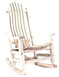 Rustic Wooden Rocking Chairs Chair Plans Solid Wood