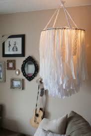 Enjoy A Warm Glow With This Luxe Light Fitting Made From Fabric Strips And Lacy Scraps