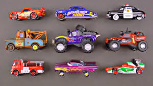100 Les Cars And Trucks Learn Disney Characters For Kids Lightning McQueen Tow Mater