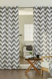 Gray Chevron Curtains Canada by Best Home Fashion Inc Velvet Chevron Printed Grommet Curtains