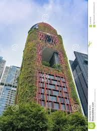 100 Hanging Gardens Hotel Red Low Angle View Editorial Image Image Of