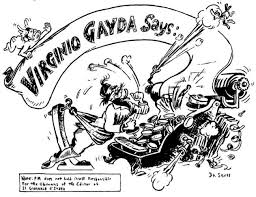 In His First Letter To The Editor Of PM Geisel Wrote That Hed Been Moved Draw Political Cartoons Because Mussolinis Press Agent Virginio Gayda
