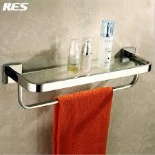 Bathroom Wall Shelves With Towel Bar by Aliexpress Com Buy Kes A2621 Bathroom Lavatory Tempered Glass