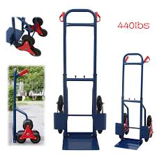 100 Hand Truck Stair Climber 440lb Industrial Moving Appliance Dolly Cart Heavy Duty