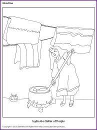 Lydia The Seller Of Purple Coloring Page