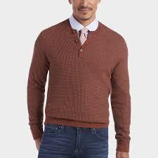joseph abboud cinnamon henley sweater men u0027s sweaters men u0027s