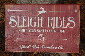 SLEIGH RIDES CHRISTMAS SIGN12