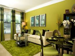 green wall theme and green fabric curtains also green cushions on
