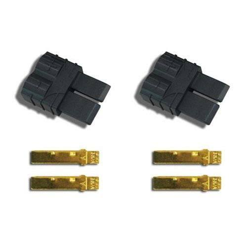 Traxxas High-Current Connector - Male, Black, 2 Pack