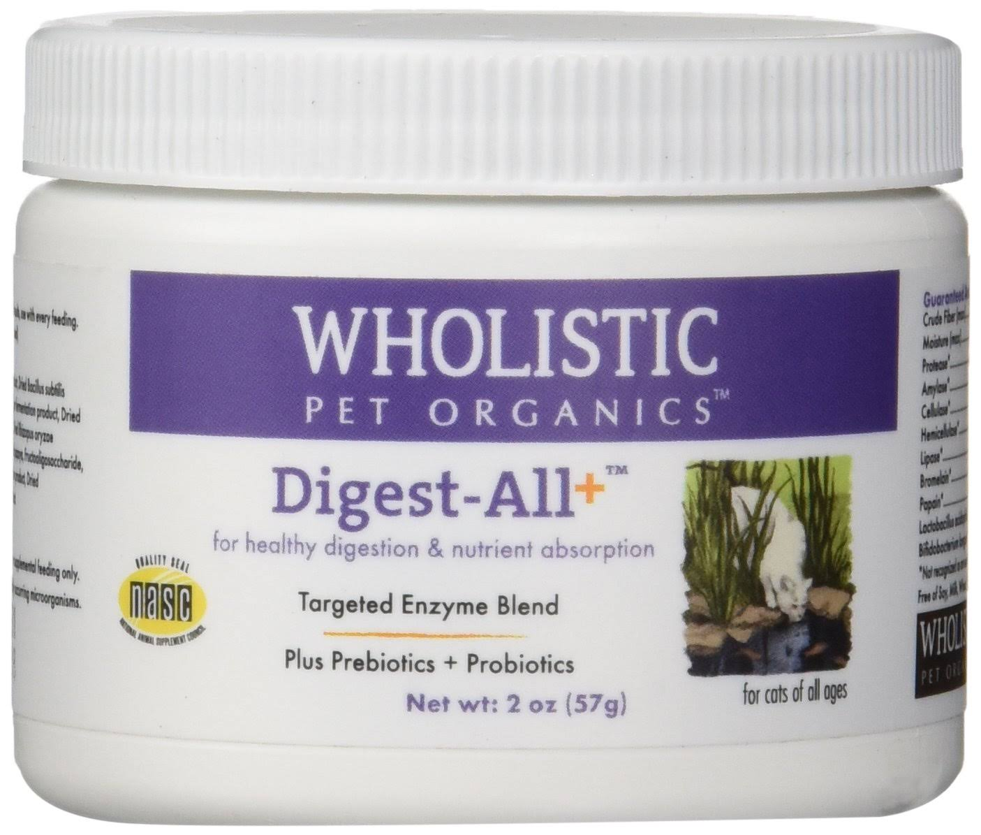 Wholistic Pet Organics Feline Digest All Plus Supplement - 2oz