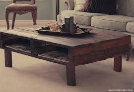 5 Rustic Pallet Coffee Table