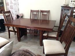 4 Dining Room Chairs Table And 2 Carvers In Dark Wood