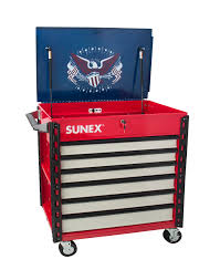 Premium Full Drawer Service Cart - USA | Sunex Tools