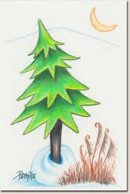 Mother Tree colored pencil drawing by Parnilla