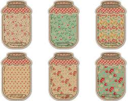 Shabby Chic Mason Jar Tags Printable Jars Floral Digital Collage Sheet Instant Download Scrapbook Embellishments Food Labels