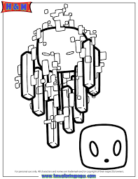 Blaze And Magma Cube Coloring Page
