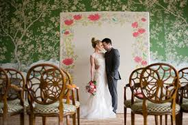 Hand Painted Wedding Ceremony Backdrop On A Tall Canvas