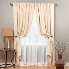 Nicole Miller Home Two Curtain Panels by Aurora Home Mix And Match Blackout With Crushed Voile Sheer 4