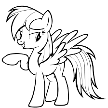 My Little Pony Coloring Pages Rainbow Dash Printable Image