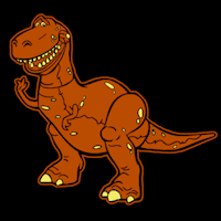 T Rex Dinosaur Pumpkin Stencil by Toy Story Rex Stoneykins