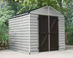 6x5 Shed Double Door by Palram Shed 8x16 Skylight Shed Tan 703983 For Sale