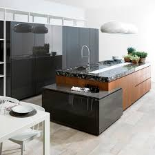 Contemporary Kitchen Oak Laminate Island E630