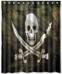 Free Shipping The pirate skull Shower Curtain Bath Curtain High