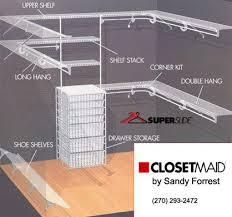 closetmaid of western kentucky closets by design closet