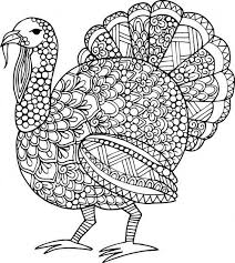 Adult Coloring Page Lets Talk Turkey
