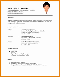 Agreeable Sample Resume For Service Crew In The Philippines About