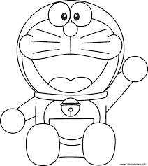 Smiling Doraemon Coloring Pages Freed44a Print Download 498 Prints