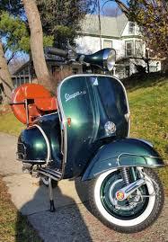 Blue Vintage Vespa Headlamp Standard VBB Racing Green Retro