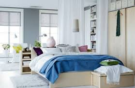 Bedroom Get The Best Interior Style From Gorgeous IKEA Design White Built