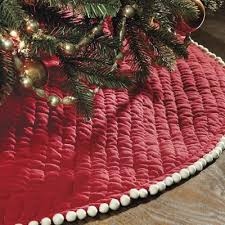 Ballard Designs Audree Pom Tree Skirt Red